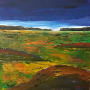 American Landscape by Alan Braley-12x12 mixed media