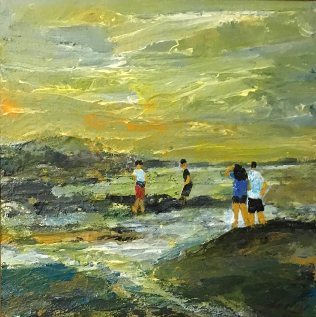 On The Rocks - Alan Braley 12x12 mixed media