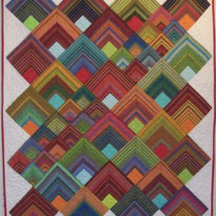 Boogie Woogie Sandy Hassan 43sq Quilted Wall Hanging $375