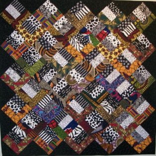 Chevrons Sandy Hassan 35×44 Quilted Wall Hanging $375