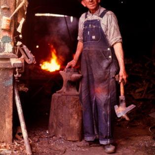 Mr. Marion Randolph Hall, Blacksmith, Oxford, Miss.1974 Photography 13X19 $275 – Michael Ford