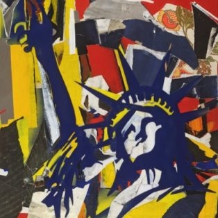 Rachael Bohlander-Back Home (Liberty No. 5) Mixed Media on Canvas 42inx26in-$950