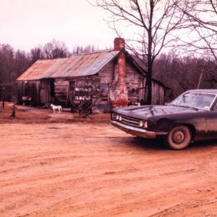 Winter colors with white dog, near Waterford, Miss.1974 Photography 13 X 19 $275 – Michael Ford