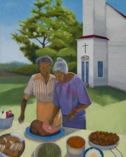 Church Picnic, Paula Cleggett, Oil, 24_x30_, $500.00 - Paula Cleggett