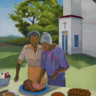 Church Picnic, Paula Cleggett, Oil, 24_x30_, $500.00 - Paula Cleggett