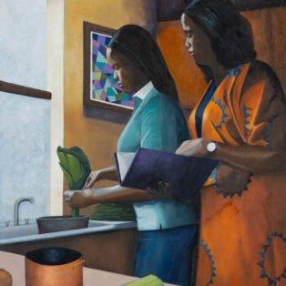 Cookbook, Paula Cleggett, Oil, 24_x30_, $500.00 - Paula Cleggett