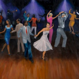 Dance Party, Paula Cleggett, Oil, 40_x30_, $600.00 - Paula Cleggett