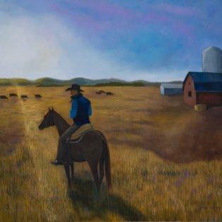 Home on the Range, Paula Cleggett, Oil, 28_x22_, $350.00 - Paula Cleggett
