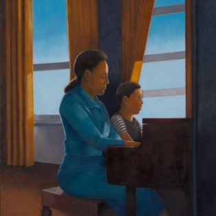 Piano Lessons, Paula Cleggett, Oil, 24_x30_, $450.00 - Paula Cleggett