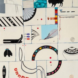 Western Whimsy, Paula Cleggett, Mixed Media, 16_x20_, $350.00 - Paula Cleggett