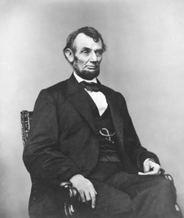 Abraham Lincoln seated Feb 9 1864
