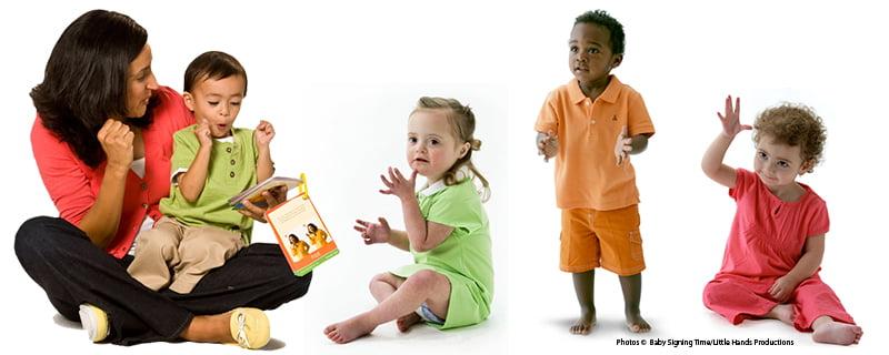 Babies using sign language