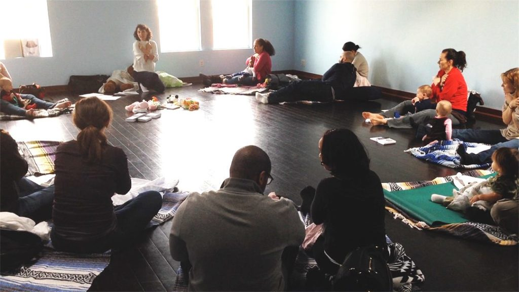 Photo of adults at baby sign workshop