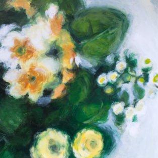 Flowers From Above-CinCin Fang-Acrylic-28inx24in-$500 - Hui Fang