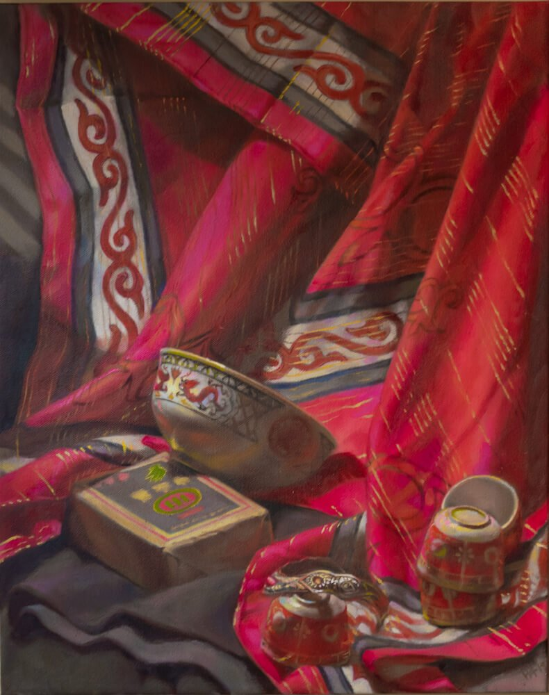 Grassland Still Life-CinCin Fang-Oil-20inx24in-$700 - Hui Fang