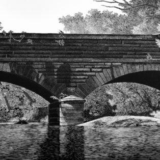 Gray - Hardware River Aqueduct II - woodcut - $1250 -M Alexander Gray