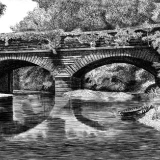Gray - Hardware River Aqueduct III - engraving - $850 - M Alexander Gray
