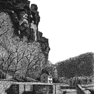 Gray - Lock 33 at Harpers Ferry - relief engraving - $150 - M Alexander Gray