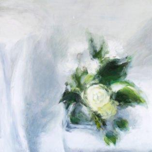 White Rose-CinCin Fang-Acrylic-24inx28in-$500 - Hui Fang