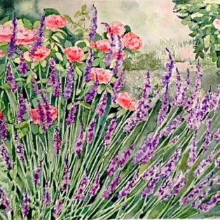 _Garden of Splendors_ Tara Hamilton Watercolor 9_x12_ $350 - Tara Hamilton