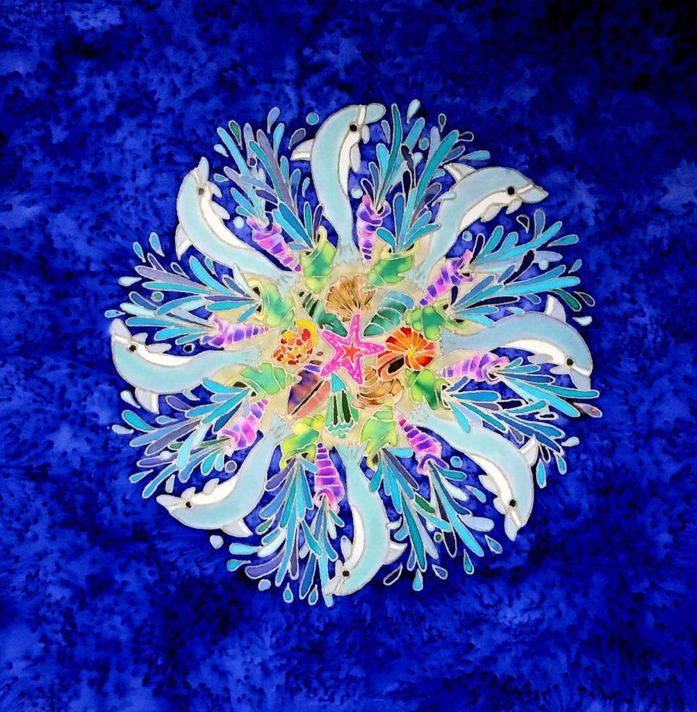 SeaMill.Nico Gozal. Painting on Silk, 20x20. $220 - Nico Gozal