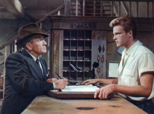 Spencer Tracy and John Ericson in Bad Day at Black Rock