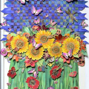 With Flying Color.Nico Gozal. Painting on Silk. 20x30. $2500 - Nico Gozal