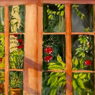 _Writer's Window_ Tara Hamilton Watercolor 11_x14_ $200 - Tara Hamilton