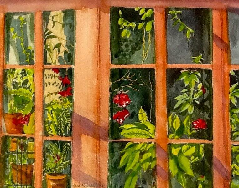 _Writer's Window_ Tara Hamilton Watercolor 11_x14_ $200 - Tara Hamilton