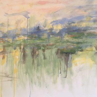 across the pond, John Pacheco, oil on canvas, 24x30, $900 - j_pacheco@mwcc.mass.edu