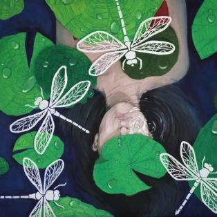 dragonflies, Khanh Nguyen, oil and acrylic, 30 x 40, 5000 - Kay Nguyen