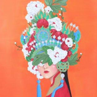 tuong, Khanh Nguyen, oil, 30 x 40, 5000 - Kay Nguyen