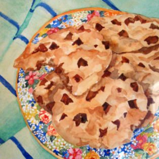 Yum!-Linda Norton-watercolor-12h x 9w-200. - Linda Norton