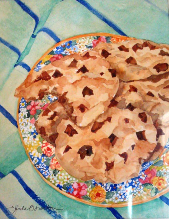 Yum!-Linda Norton-watercolor-12h x 9w-200. - Linda Norton