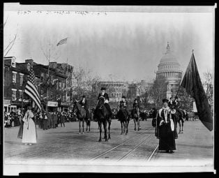 Head of suffrage parade, Washington, D.C.