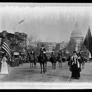 Head of suffrage parade, Washington, D.C.