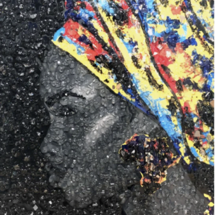 portrait of a black woman with a headwrap